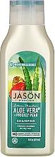 Parfums et Produits cosmétiques Shampooing hydratant à l'extrait d'aloe vera et spiruline - Jason Natural Cosmetics Moisturizing Aloe Vera 84% Shampoo