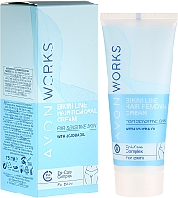 Parfums et Produits cosmétiques Crème dépilatoire zone bikini - Avon Works Bikini Line Hair Removal Cream
