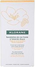 Parfums et Produits cosmétiques Bandelettes de cire froide à l'amande douce pour visage et zones sensibles - Klorane Hygiene et Soins du Corps