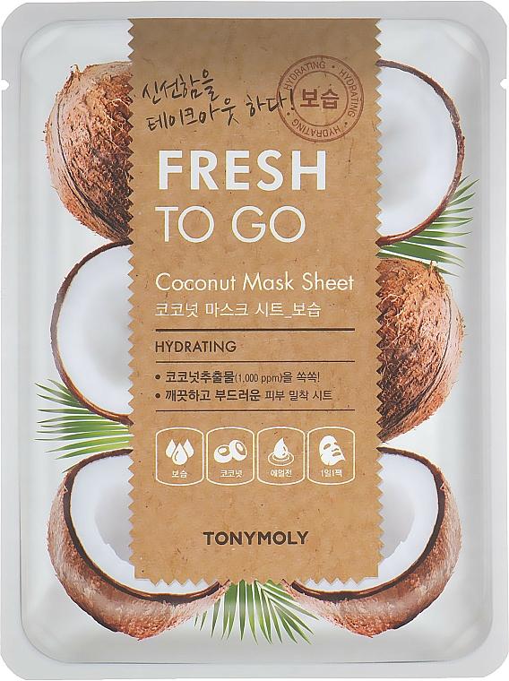 Masque tissu à la noix de coco pour visage - Tony Moly Fresh To Go Coconut Mask Sheet Hydrating — Photo N1