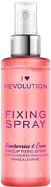 Fixateur de maquillage en spray - Makeup Revolution Fixing Spray Strawberries & Cream