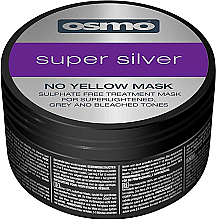 Parfums et Produits cosmétiques Masque déjaunissant à l'huile de lin pour cheveux - Osmo Super Silver No Yellow Mask