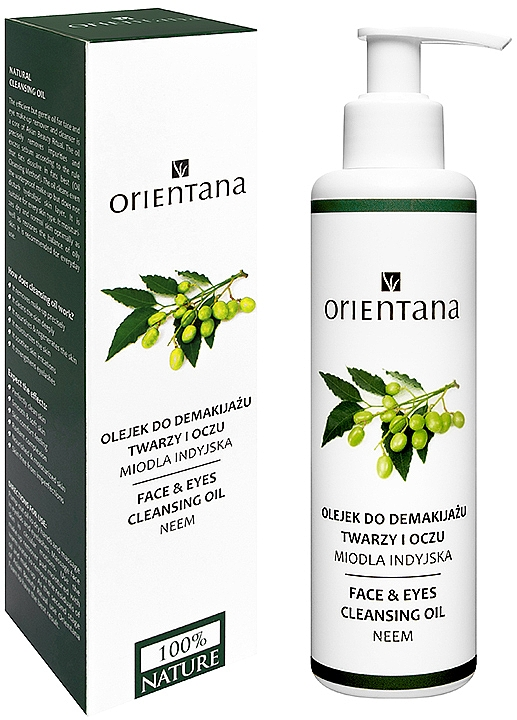 Huile bio au miel indien de neem pour visage et yeux - Orientana Nourishing Cleansing Oil For Face & Eyes Neem
