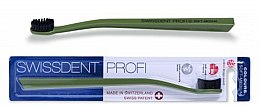 Parfums et Produits cosmétiques Brosse à dents, medium, verte - SWISSDENT Profi Colours Soft-Medium Toothbrush Green&Black