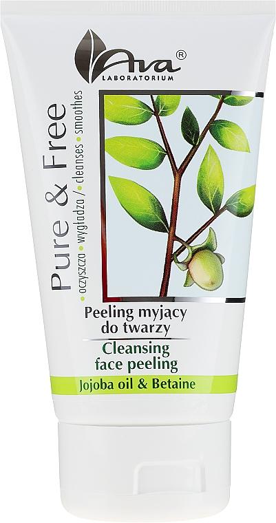 Gel exfoliant pour visage, Huile de Jojoba et Bétaïne - AVA Laboratorium Pure & Free Cleansing Face Peeling — Photo N1