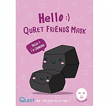 Parfums et Produits cosmétiques Masque tissu à base de charbon pour visage - Quret Hello Friends Mask Charcoal
