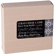 Parfums et Produits cosmétiques Bath House Cuban Cedar & Lime - Savon à raser, Cèdre et Lime (recharge)