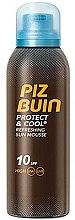 Parfums et Produits cosmétiques Mousse solaire rafraîchissante SPF 10 - Piz Buin Protect & Cool Refreshing Sun Mousse SPF10