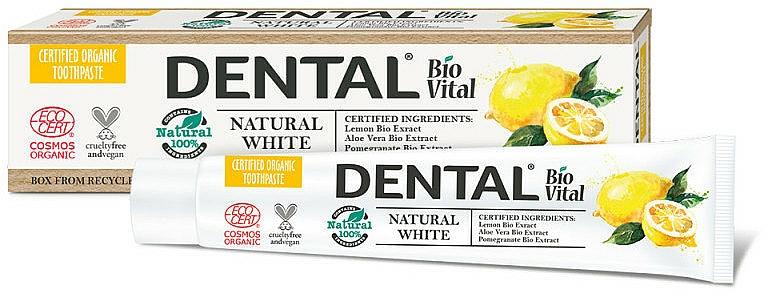 Dentifrice à l'extrait de citron bio - Dental Bio Vital Natural White Toothpaste