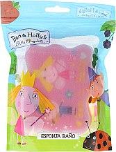 Parfums et Produits cosmétiques Éponge de bain pour enfant Le petit royaume de Ben et Holly, rose - Suavipiel Ben & Holly