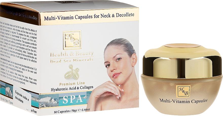 Soin en capsules à l'acide hyaluronique et collagène pour cou et décolleté - Health And Beauty Multi-Vitamin Capsules For Neck And Decollete — Photo N1