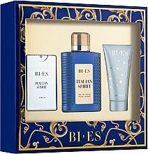 Parfums et Produits cosmétiques Bi-Es Italian Spirit - Set (eau de toilette 100ml + eau de parfum 15ml + gel douche 50ml)