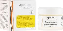 Parfums et Produits cosmétiques Crème de jour aux huiles d'argousier et pépins de raisin - Apeiron Moisturizing Cream