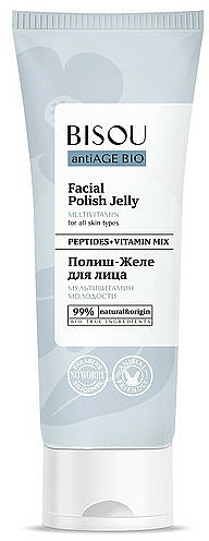 Gel exfoliant aux vitamines pour visage - Bisou AntiAge Bio Facial Polish Jelly