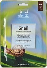 Parfums et Produits cosmétiques Masque tissu à l'extrait d'escargot pour visage - Beauugreen Contour 3D Snail Essence Mask