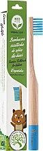Parfums et Produits cosmétiques Brosse à dents en bambou pour enfants, souple, bleu - Biomika Natural Bamboo Toothbrush