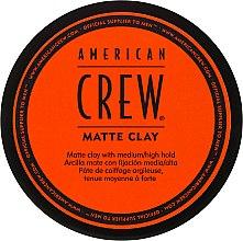 Parfums et Produits cosmétiques Pâte coiffante fixation moyenne à forte - American Crew Matte Clay