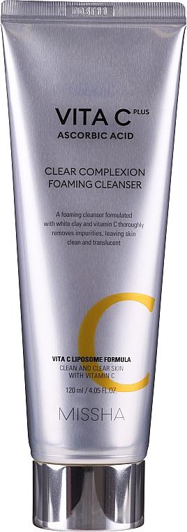 Mousse nettoyante à l'argile blanche et vitamine C pour visage - Missha Vita C Plus Clear Complexion Foaming Cleanser — Photo N2