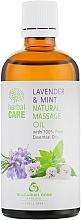 Parfums et Produits cosmétiques Huile de massage aux huiles de lavande et menthe - Bulgarian Rose Herbal Care Natural Massage Oil