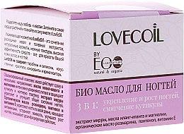 Parfums et Produits cosmétiques Huile de romarin et vitamine E pour ongles - ECO Laboratorie Lovecoil Nail Care Bio-Oil 3 in 1