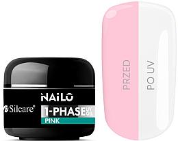 Parfums et Produits cosmétiques Gel pour ongles - Silcare Nailo 1-Phase Gel UV Pink