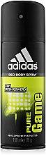 Parfums et Produits cosmétiques Adidas Pure Game - Déodorant spray