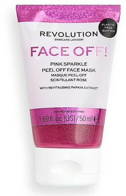 Masque-peeling pour visage - Revolution Skincare Face Off! Pink Glitter Face Off Mask — Photo N1