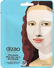 Parfums et Produits cosmétiques Masque tissu hydratant au collagène pour visage et cou - Dizao Collagen Face & Neck Botomask