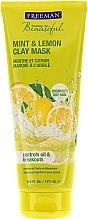 Parfums et Produits cosmétiques Masque à l'argile aux menthe et citron pour visage - Freeman Feeling Beautiful Clay Mask Mint & Lemon