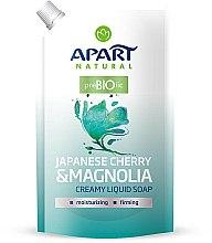Parfums et Produits cosmétiques Savon liquide Cerisier du Japon et Magnolia - Apart Natural Japanese Cherry & Magnolia Soap (recharge)