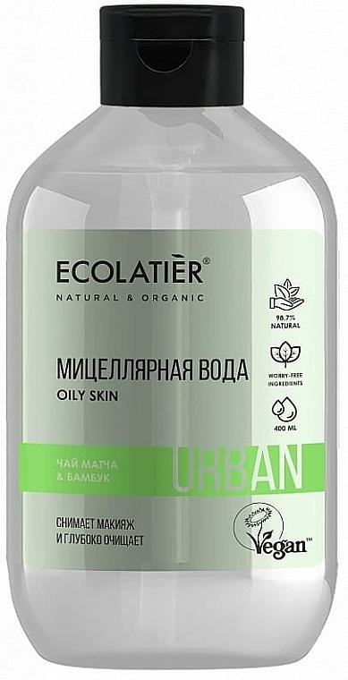 Eau micellaire végan au thé matcha et bambou - Ecolatier Urban Micellar Water