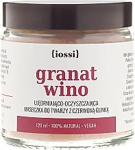 Parfums et Produits cosmétiques Masque à l'argile rouge, grenade et vin pour visage - Iossi Face Mask