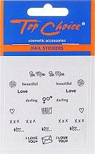 Parfums et Produits cosmétiques Autocollants pour ongles 42317, 6 pcs - Top Choice Word Golds Silver