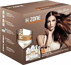 Parfums et Produits cosmétiques H.Zone - Set soin cheveux(shm/500/ml + lotion/500/ml + spray/250/ml + sérum/150/ml + serviette)