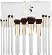 Parfums et Produits cosmétiques Kit pinceaux de maquillage avec étui, 12pcs, blanc - Tools For Beauty