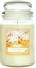 Parfums et Produits cosmétiques Bougie parfumée en jarre Gâteau à la vanille - Airpure Jar Scented Candle Vanilla Cupcake