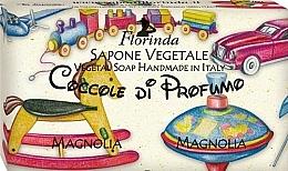 Parfums et Produits cosmétiques Savon végétal pour enfants, Magnolia - Florinda Sapone Vegetale Magnolia Vegetal Soap Handmade