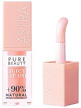 Parfums et Produits cosmétiques Huile à l'huile de jojoba pour lèvres - Astra Pure Beauty Juicy Lip Oil