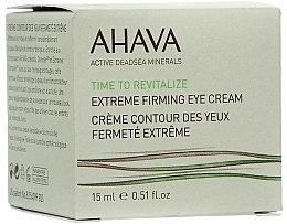 Parfums et Produits cosmétiques Crème au beurre de karité pour contour des yeux - Ahava Time to Revitalize Extreme Firming Eye Cream