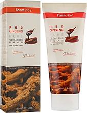Parfums et Produits cosmétiques Mousse lavante à l'extrait de ginseng rouge pour visage - Farmstay Red Ginseng Pure Cleansing Foam
