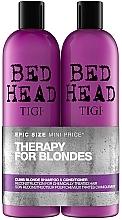 Parfums et Produits cosmétiques Tigi Bed Head Dumb Blonde - Set pour cheveux blonds (shampooing/750ml + après-shampooing/750ml)