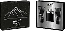 Parfums et Produits cosmétiques Montblanc Legend - Coffret (eau de toilette/100ml + baume après-rasage/100ml + gel douche/100ml)