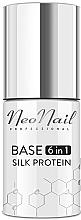 Parfums et Produits cosmétiques Base pour vernis hybride - NeoNail Professional Base 6in1 Silk Protein