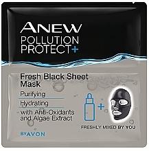Parfums et Produits cosmétiques Masque tissu pour visage - Avon Anew Pollution Protect+ Fresh Black Sheet Mask