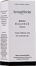 Parfums et Produits cosmétiques Sérum à l'huile de mandarine pour visage - AromaWorks Balance Face Serum Oil