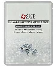 Parfums et Produits cosmétiques Masque à la poudre de diamant pour visage - SNP Diamond Brightening Ampoule Mask