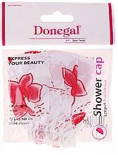 Parfums et Produits cosmétiques Bonnet de douche, 9298, fleurs blanc-rouge - Donegal