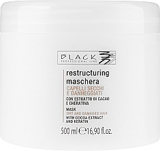 Parfums et Produits cosmétiques Masque à l'extrait de cacao pour cheveux - Black Professional Line Chocolate & Keratin Mask