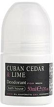 Parfums et Produits cosmétiques Bath House Cuban Cedar & Lime - Déodorant roll-on