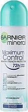 Parfums et Produits cosmétiques Déodorant spray anti-transpirant - Garnier Mineral Maximum Control 72h